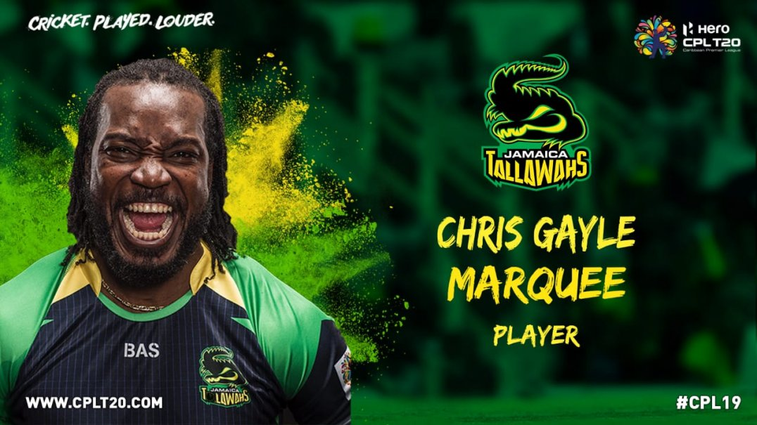 Chris Gayle Rejoins Jamaica Tallawahs For 2019 Hero Caribbean Premier League!