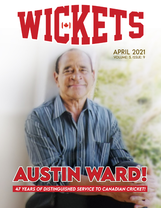 Barbadian Canadian Austin Ward Featured As Wickets Magazine's April 2021 Cover!
